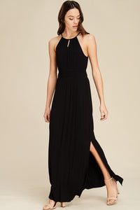 All Eyes On Me Maxi Dress (Black)