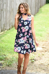 Wild and Free Dress (Navy)