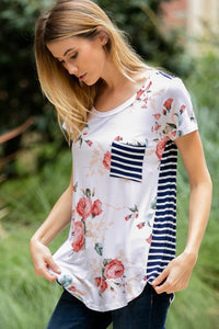 Sitting in Sunshine Tee (Ivory)