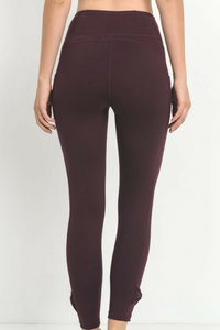 Bow & Arrow Workout Pants (Burgundy)