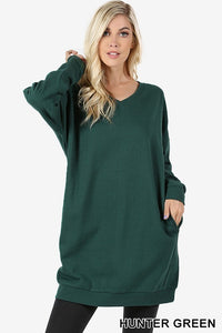 By the Fire Pocketed Sweatshirt (Hunter Green)