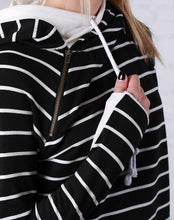 Load image into Gallery viewer, All Good in the Hoodie (Black Stripe Double Hood)