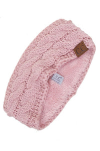 C.C Cable Knit Fleece Lined Ear Warmers (Multiple Colors)