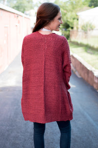 The Book Nook Cardi (Marsala)