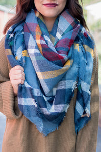 Blue Dream Blanket Scarf