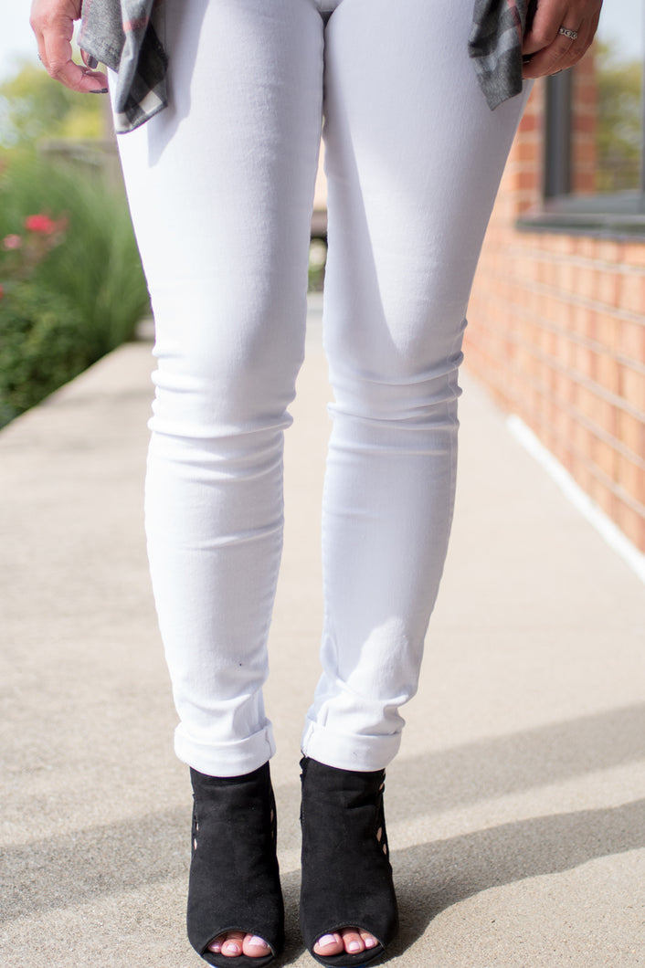 Walk With Me Jeans (White)