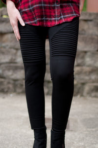Find Your Own Moto Jeggings (Black)