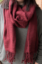 Load image into Gallery viewer, Red Wine Scarf
