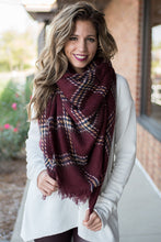 Load image into Gallery viewer, Harvest Time Blanket Scarf (Red)