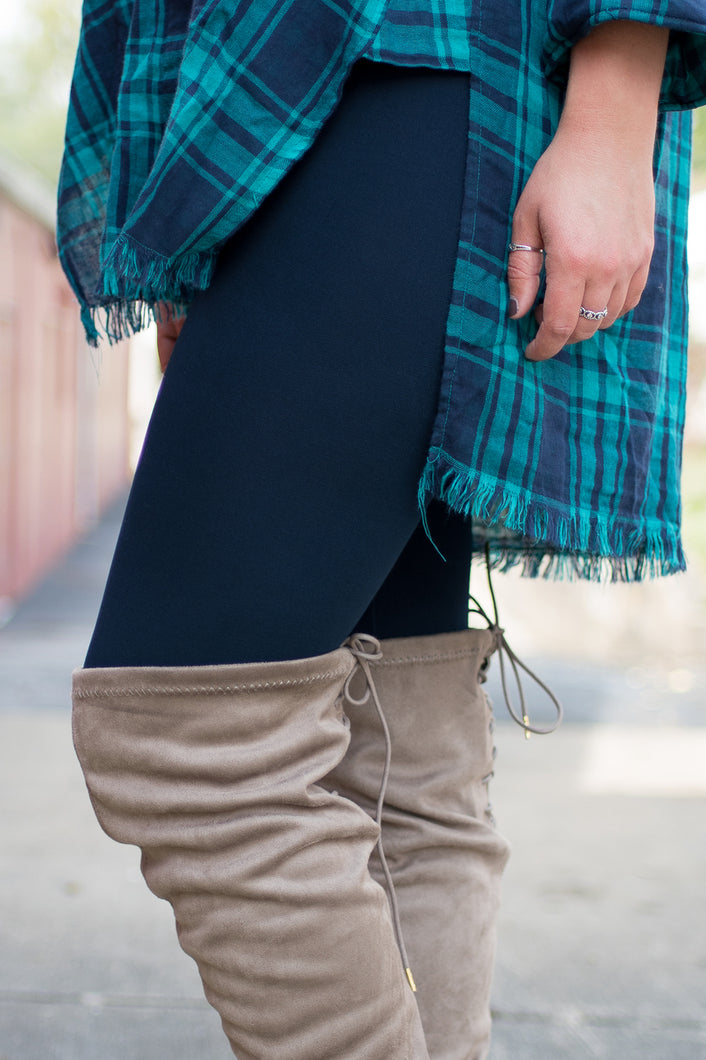 Amazing Fleece Lined Leggings (Navy)