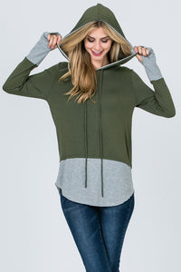 Get in Line Hooded Top (Olive)