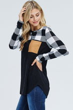 Load image into Gallery viewer, Mad for Plaid Long Sleeve (Black)