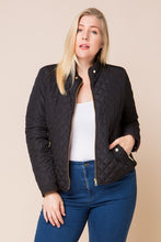 Load image into Gallery viewer, Finishing Touch Quilted Jacket (Black)
