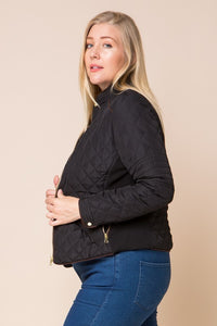 Finishing Touch Quilted Jacket (Black)