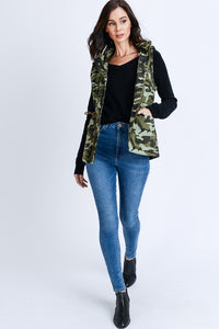 Marching On Fur Lined Vest (Camo)