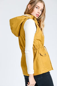 Snuggle Up Fur Lined Vest (Mustard)