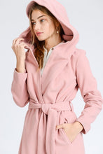 Load image into Gallery viewer, City Life Belted Trench Coat (Pink)