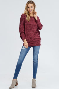 Bare a Little Shoulder (Burgundy)