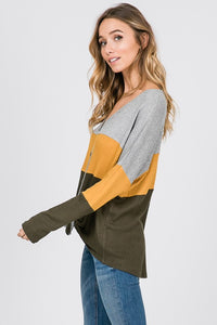 Lead the Day Top (Olive)