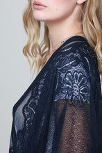 Load image into Gallery viewer, Adorned in Lace Kimono (Black)