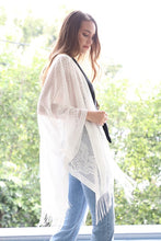 Load image into Gallery viewer, Adorned in Lace Kimono (White)
