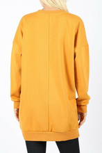 Load image into Gallery viewer, Cozied Up Pocketed Sweatshirt (Mustard)