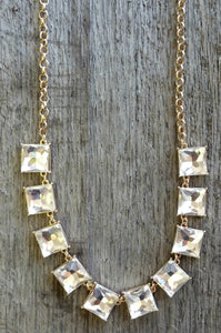 All Squared Away Necklace (Gold)