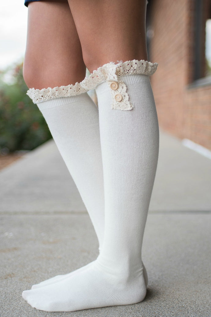 Show and Tell Boot Socks (Ivory)