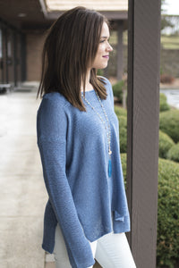 Twinkle of Periwinkle Boatneck Top
