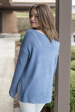 Load image into Gallery viewer, Twinkle of Periwinkle Boatneck Top