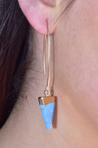 To Cap It Off Earrings (Blue)