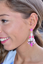 Load image into Gallery viewer, Gaze Away Earrings  (Pink)