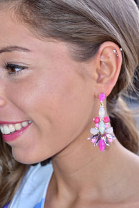 Gaze Away Earrings  (Pink)