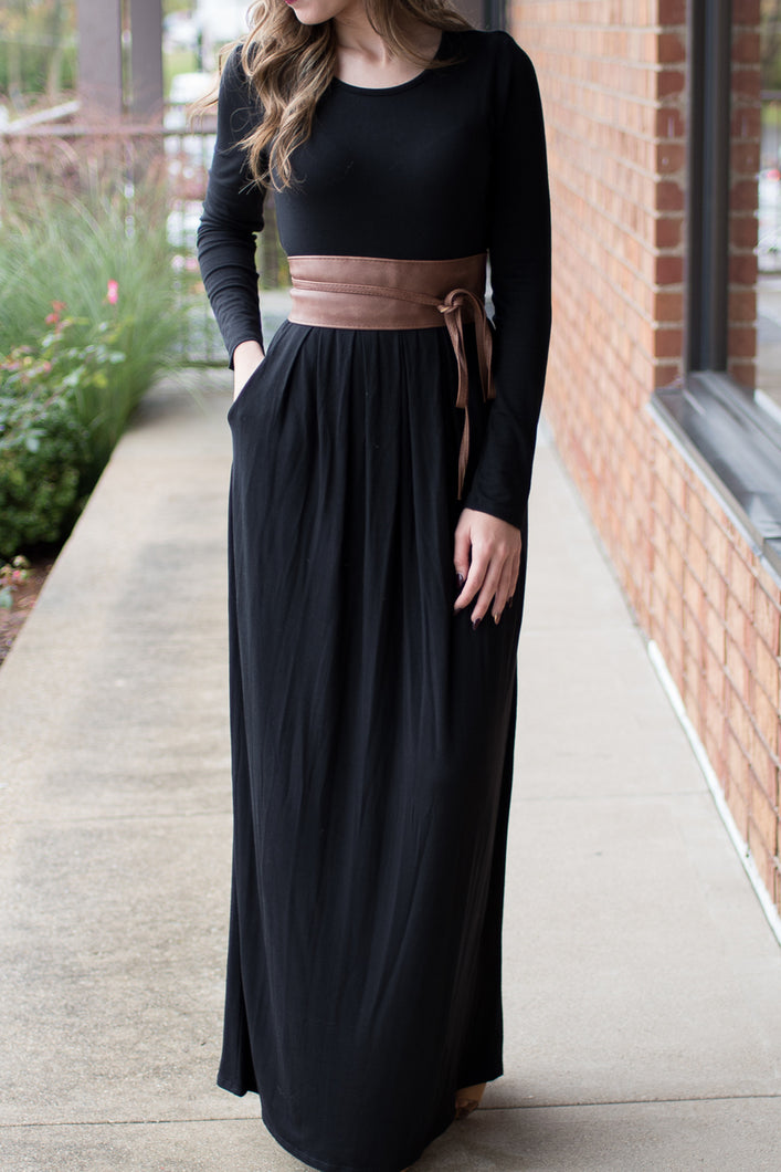 The Perfect Catch Maxi Dress (Black)