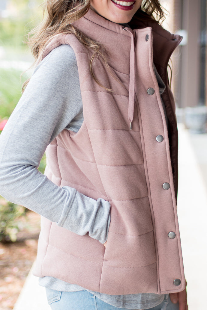 Like a Cloud Vest (Mauve)