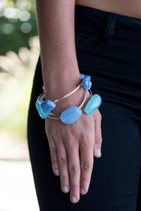 Calming Waters Bangle Set