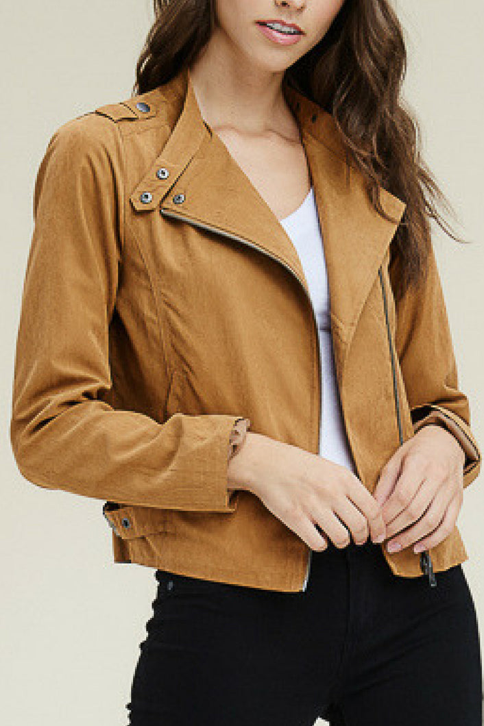 Livin' the Dream Moto Jacket (Dark Camel)