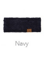 Load image into Gallery viewer, C.C Cable Knit Fleece Lined Ear Warmers (Multiple Colors)