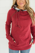 Load image into Gallery viewer, DoubleHood Ampersand Ave™ Sweatshirt - Cranberry Plaid (Curvy)
