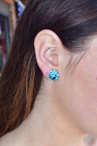 Beautifully Bold Earrings (Aqua)