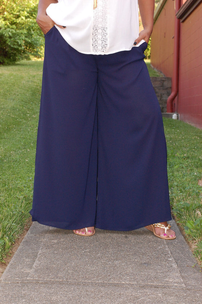 Blue Hued Bliss Pants (Navy)