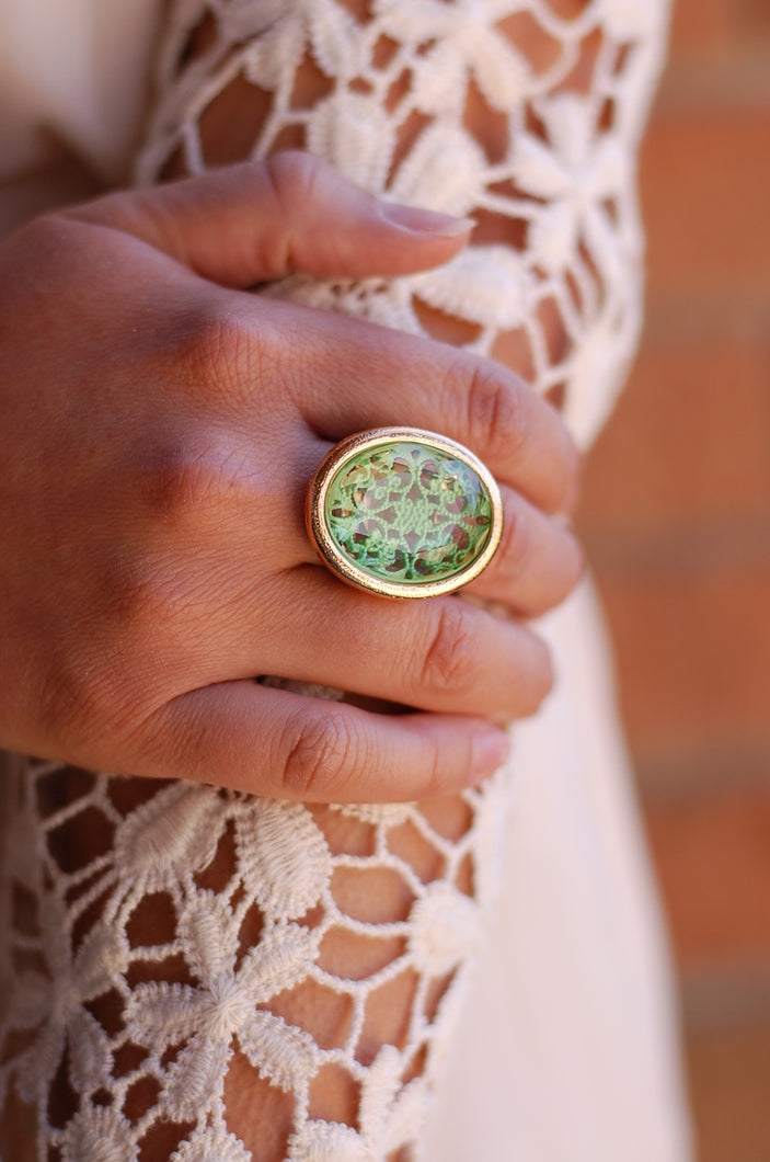Mirror Mirror Ring (Green)