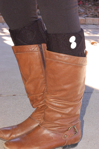 No Missed Chances Boot Cuffs (Black)