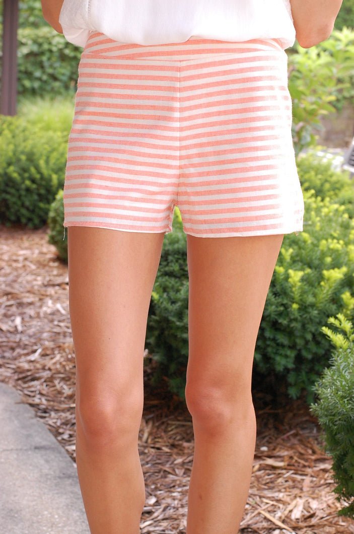 Show Off Your Stripes Shorts (Peach)
