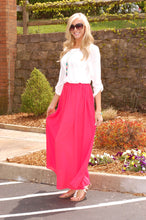 Load image into Gallery viewer, Take Me Away Maxi Shirt (Coral)