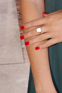 Squared Away Ring (White)