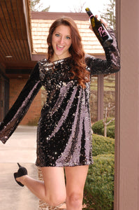 Pop Fizz Clink Dress (Black)