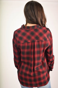 Find My Soul Button Up (Red)