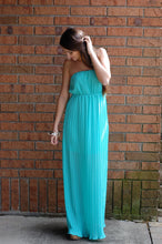 Load image into Gallery viewer, Aloha Aqua Maxi Dress
