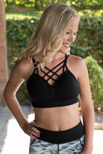 Load image into Gallery viewer, Don't Cross Me Bralette (Black)